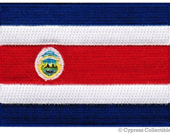 COSTA RICA FLAG Patch iron-on embroidered applique Top Quality