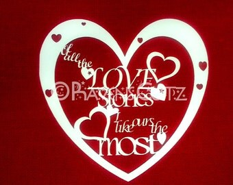 Love Stories paper cutting template