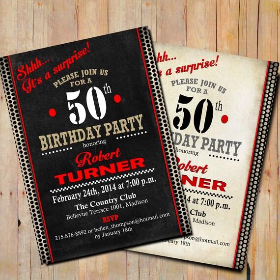 Items Similar To Surprise 50th Birthday Invitation / 30th