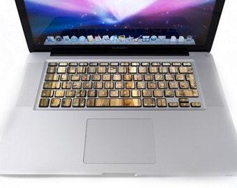 Holz Tastatur Für MacBook Aufkleber