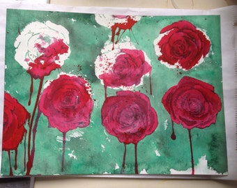 Painting The Roses Red- 9x12