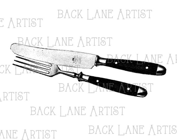 Line Drawing Knife And Fork : Knife and fork clipart lineart illustration instant