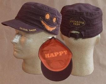 Think HAPPY! 100% Organic Cotton Corps-Style Thinking Cap
