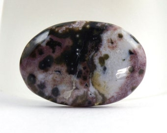 32mm Burgundy and Black Ocean Jasper Oval Cabochon