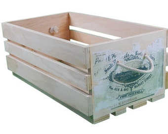 Timber crate vintage replica