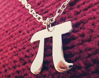 Pi Pendant Necklace Positive 3,14 Pi Symbol