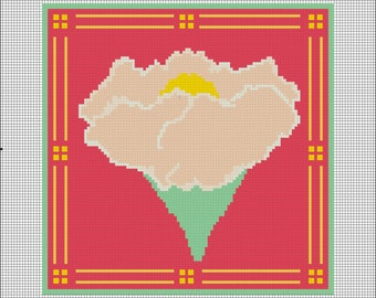 Craft Movement Peony Needlepoint Pattern