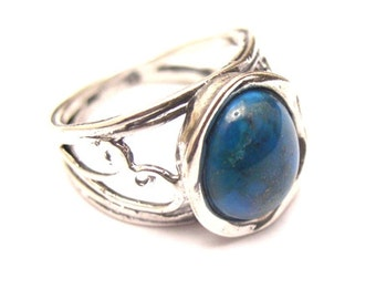 Sterling Silver 925 Ring with Turquoise