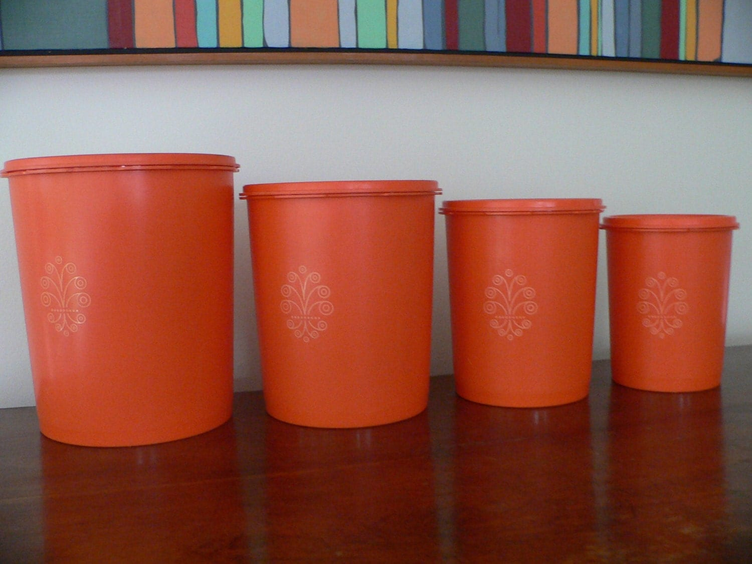 Retro Kitchen Canisters Red Kitchen Canisters Set Orange Canister Best Home Decoration
