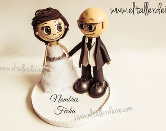 Fofuchas bride and groom personalized (15cm)