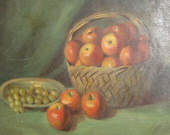 Antique european oil painting stil life
