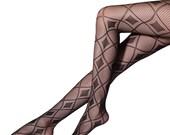 Diamant Muster Strumpfhose, sexy Netz-Strumpfhose, Diamond Tights