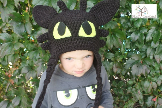 Toothless Dragon Amigurumi Pattern : How to train your dragon toothless hat children s hat