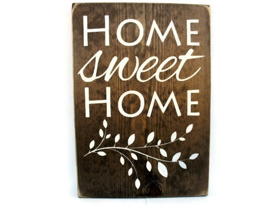 wood wall word rustic sign home decor home sweet home