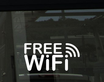 Free WiFi die cut vinyl storefront decal [a-1023]