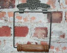 VICTORIA TOILET ROLL Holder Victorian Antique Style Tissue Holder Washroom Bathroom Display