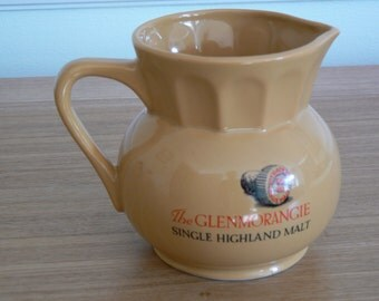 Glenmorangie Water Jug. Nicely decorated with a whisky stopper printed on either side.