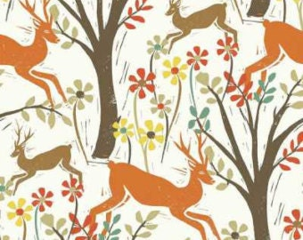 Woodwinked by Dear Stella, Woodland Deer in Bone, ONE Yard