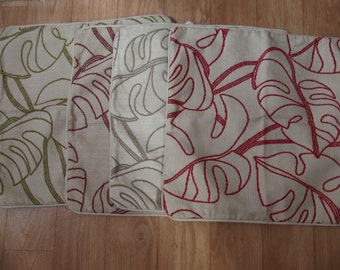 leaf design cushion cover
