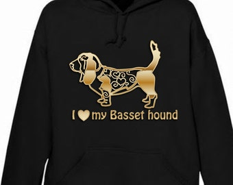 i love my Basset hound hoodie, personalised if you wish