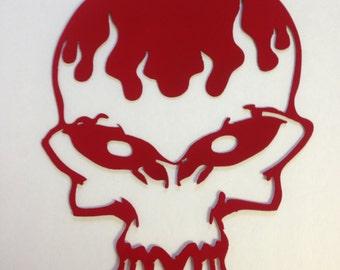 Metal Skull Decoration
