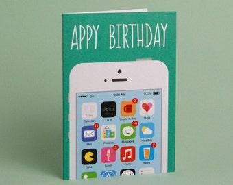 Appy Birthday - Greetings Card