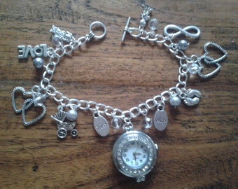 Personalised Family inspired Charm Bracelet Watch