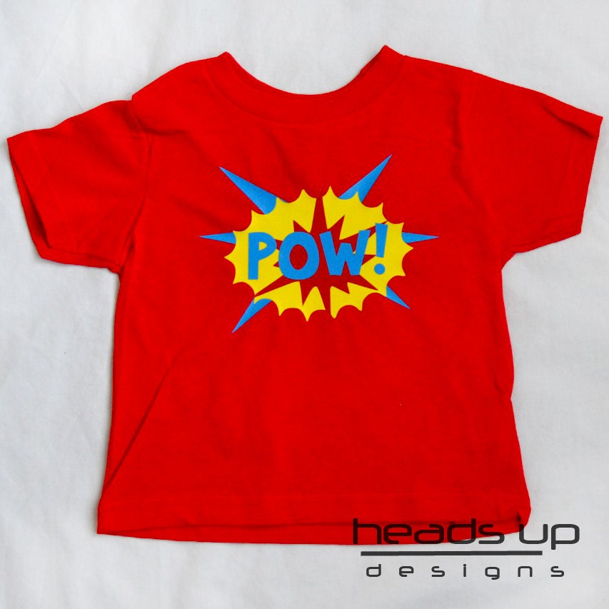 Superhero pow shirt toddler toddler boy super hero pow Boys superhero t shirts