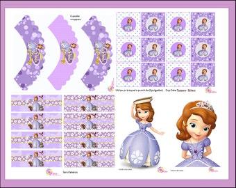 New!!! Girl!!!!! PRINCESS SOFIA, Printable Party Set! CUSTOMIZED!!!