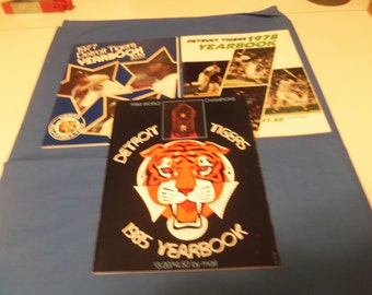 1977-1978-1985 Detroit Tigers Yearbooks.