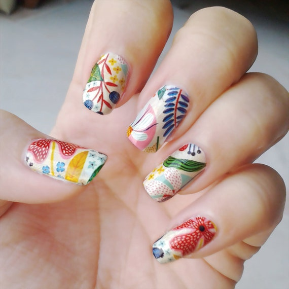 Fingernail Nail Wraps - Trendy New Designers