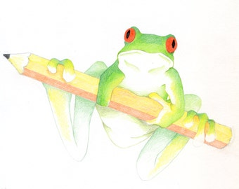 Pencil Frog Green/Yellow