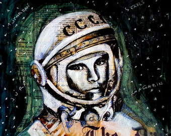 Original Painting ' The Starman (Juri Gagarin) '