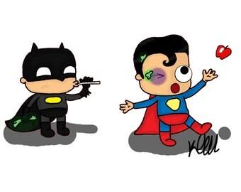 Batman vs Superman print
