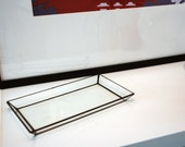 Glass Rectangle Tray / Decor / Jewelry Box / Rectangle / Home & Living / Glass Object / Candle Holder / Ring Holder