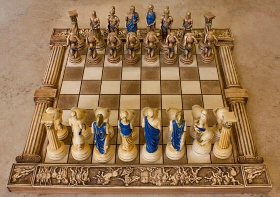 Ceramic Handmade Chess Set Atlas Big