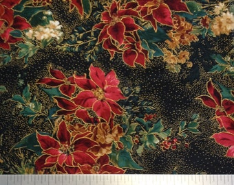 POINSETTAS-Holiday Splendor-Quilting Fabric by Moda- 100% Cotton