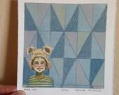 Woodland Print Bear Hat B...