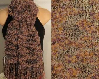 Hand Knit Wool Cotton Scarf lacy Magic Whisper Pink Purple cream Black Yellow