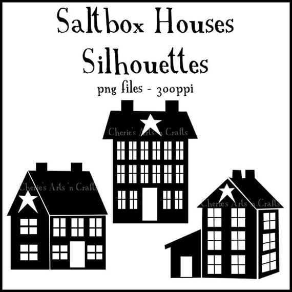 Silhouettes Saltbox Houses Silhouettes Prim Graphics Prim