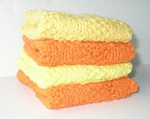 SALE Cotton Washcloths, Set of 4, Sunshine Set