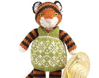 Tiger with Summer Dress Knitting Pattern