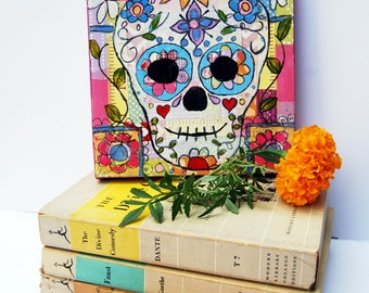 Day of the Dead Art | Skull Art | Mexican Art | Original canvas Art