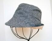 Fedora Hat for Baby Boy or Toddler in Denim