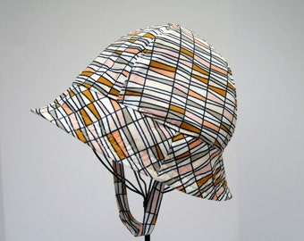 Baby Sun Hat with Modern Geometric Print