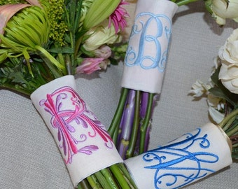 Monogram Bouquet Wrap