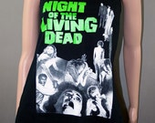 Night Of The Living Dead Horror Zombie Slub Tank Slouch Tunic Top