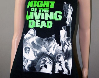 Night Of The Living Dead Horror Movie Zombie Slub Tank Slouch Tunic Shirt Top Punk Goth Halloween