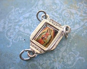 Rosary Y Connector Religious Medal VIRGIN of GUADALUPE Mary Virgin Mother Silver lot of 1