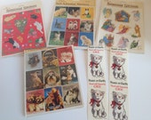 Lot of 1980's stickers Hallmark Gibson and Suzy Cats Dogs Angels in the Original Package